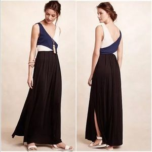 Anthropologie Maeve Cross-Bodice Jersey Maxi Dress